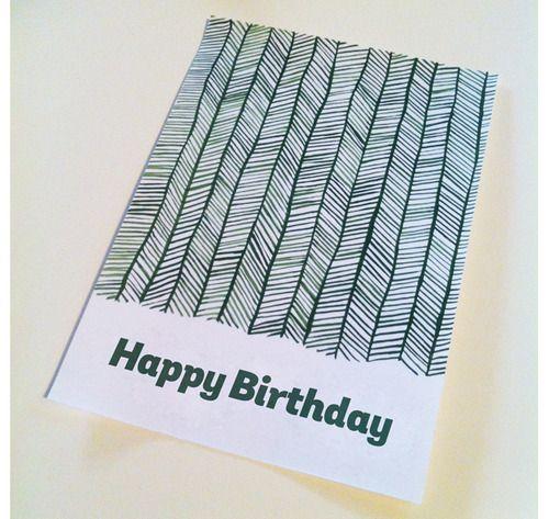 Geburtstagskarte, selfmade.