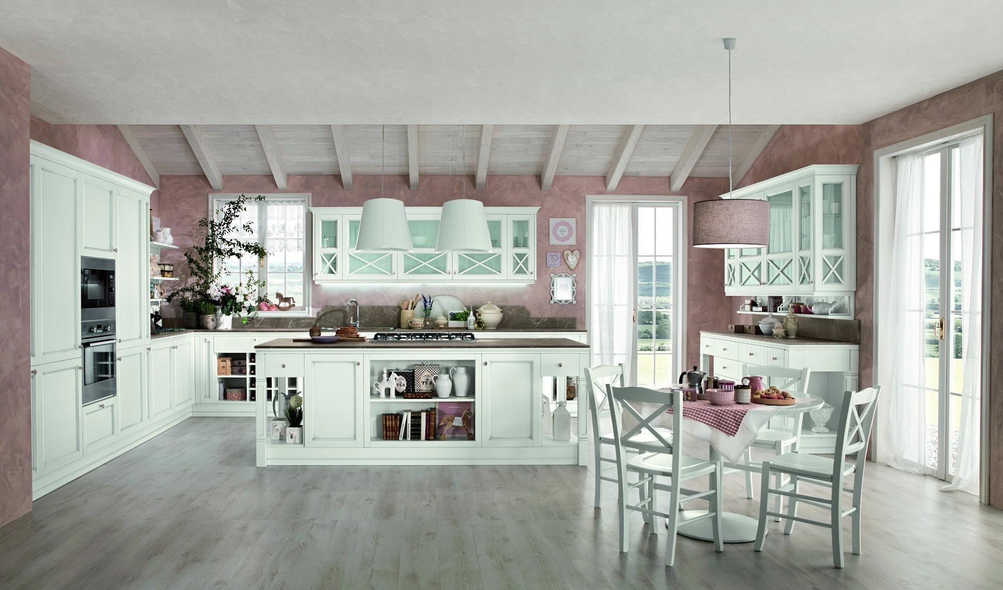 cucine artec Sinfonia bianco anticato Isola | Cucina | Pinterest