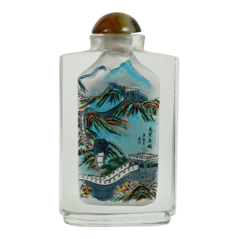 Chinese Reverse Painting Snuff Bottle | Products | Blue