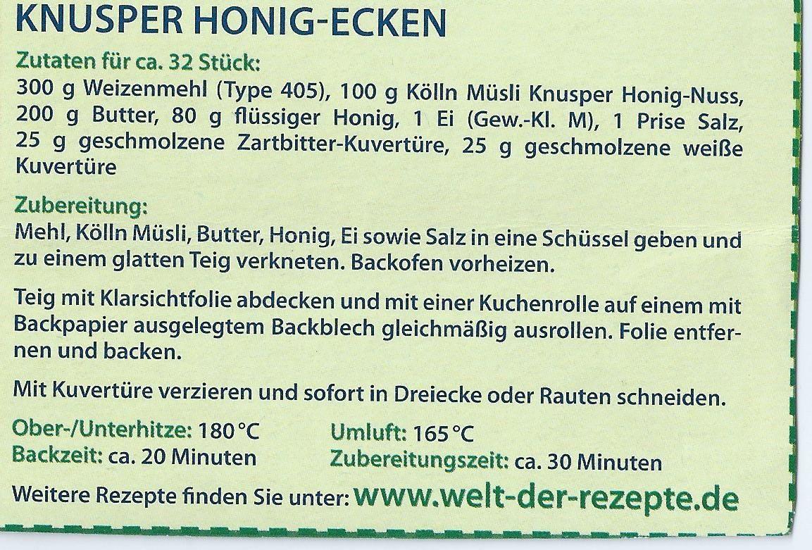 Knusper Honig-Ecken
