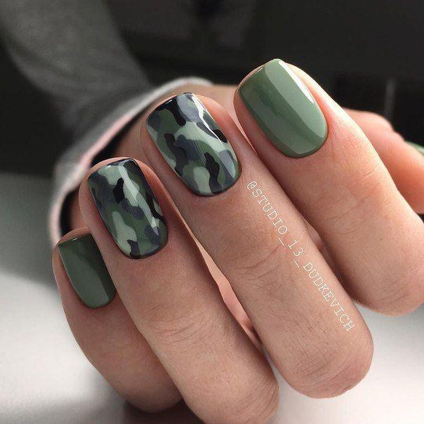 Камуфляжный дизайн ногтей фото