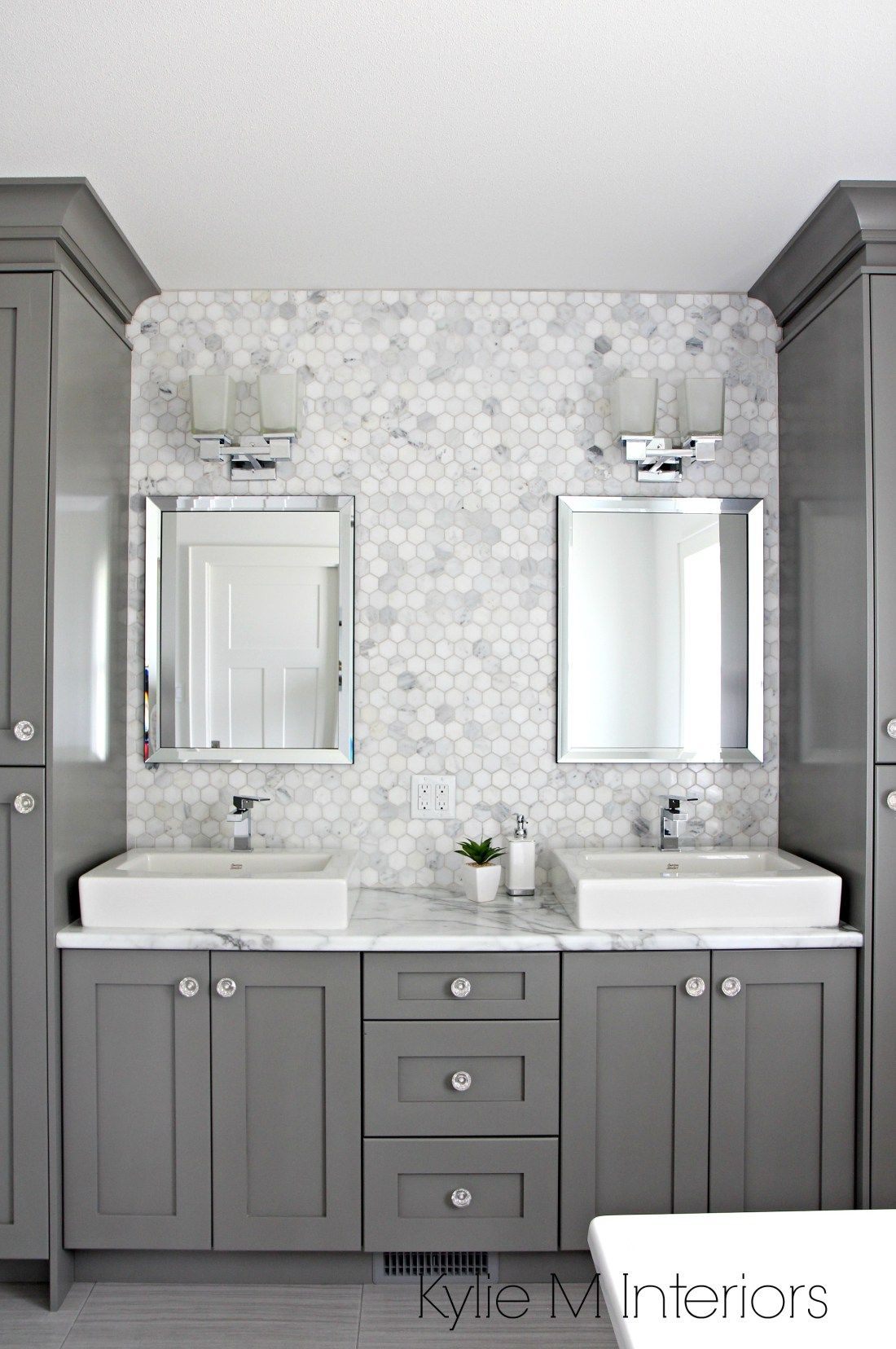a marble inspired ensuite bathroom budget friendly too - Bathroom Backsplash