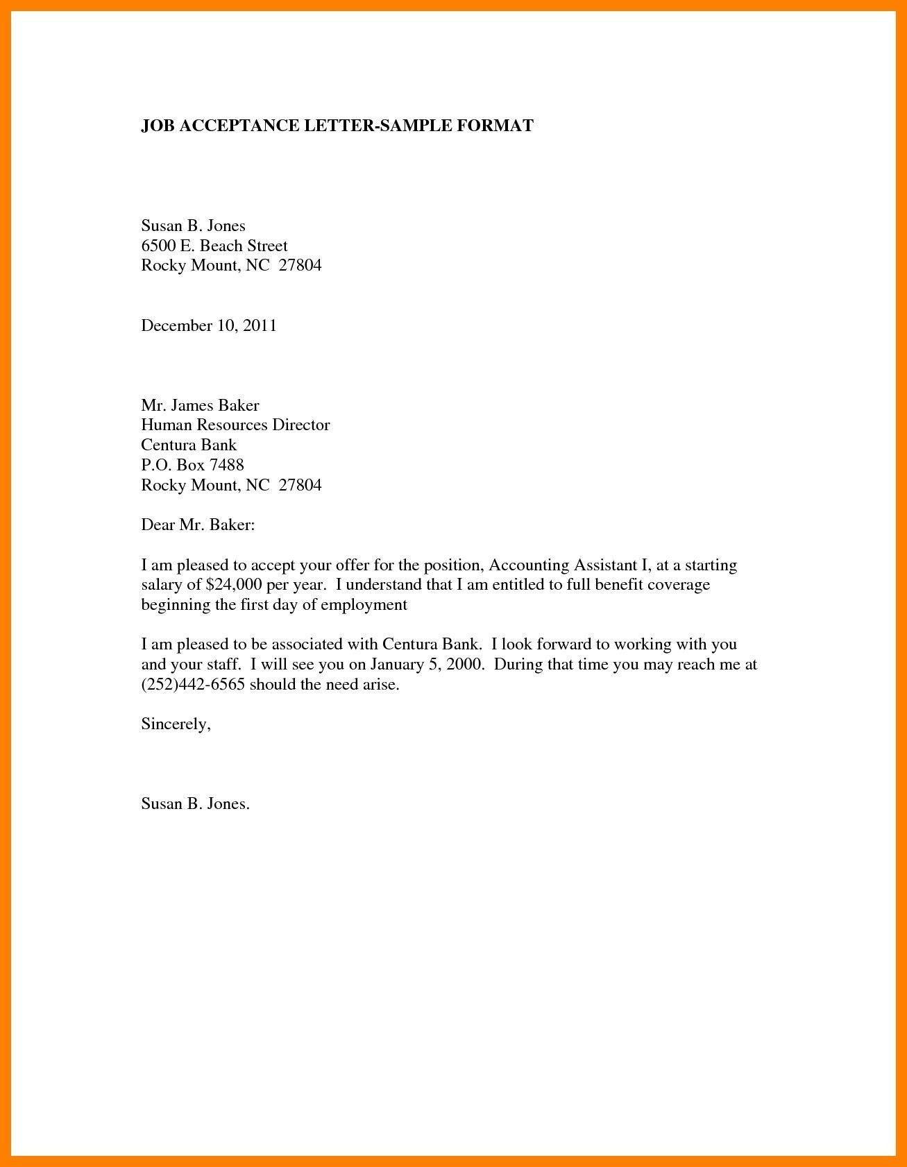 Employer Job Offer Letter Sample