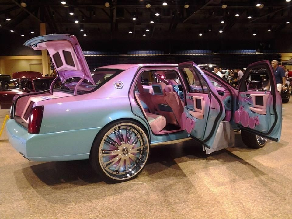 """Caddy with a """"sick"""" paint job! (With images) Donk cars"""