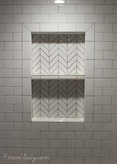 Vertical Subway Tile Bathroom Victorian