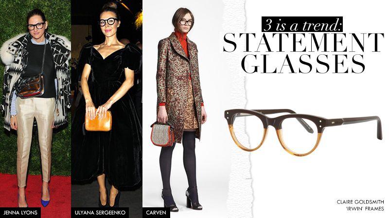 Eye Spy: Ulyana Sergeenko and J. Crew's creative director Jenna Lyons on the red carpet in statement glasses
