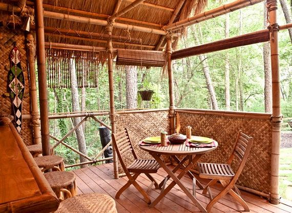 DIY PLANS Tiki Hut  Bamboo bungalow with Tiki bar