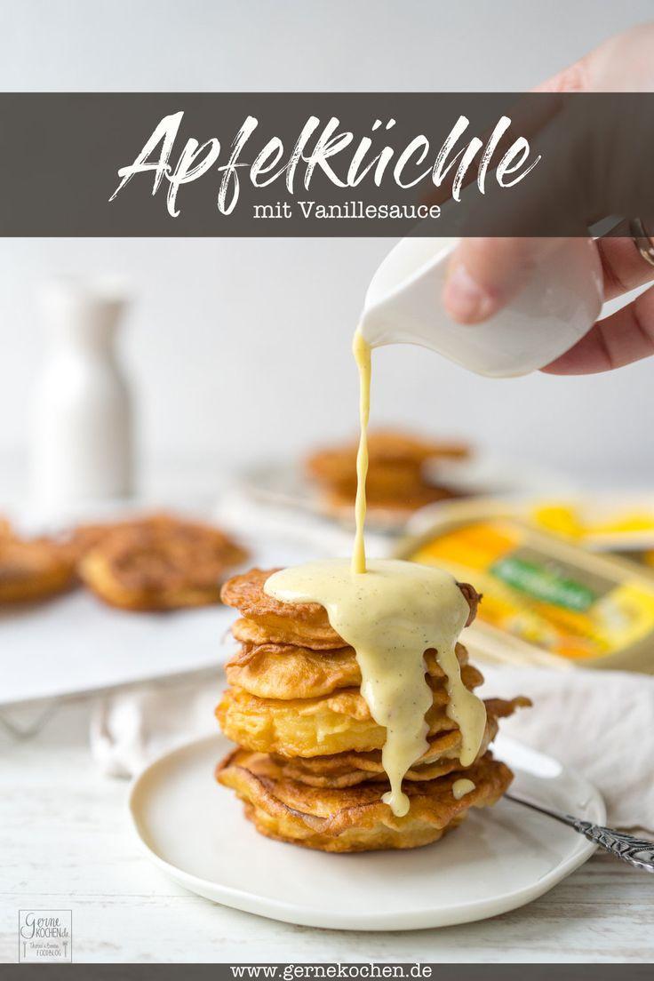 Rezept: Apfelküchle mit Vanillesauce - Gernekochen.de