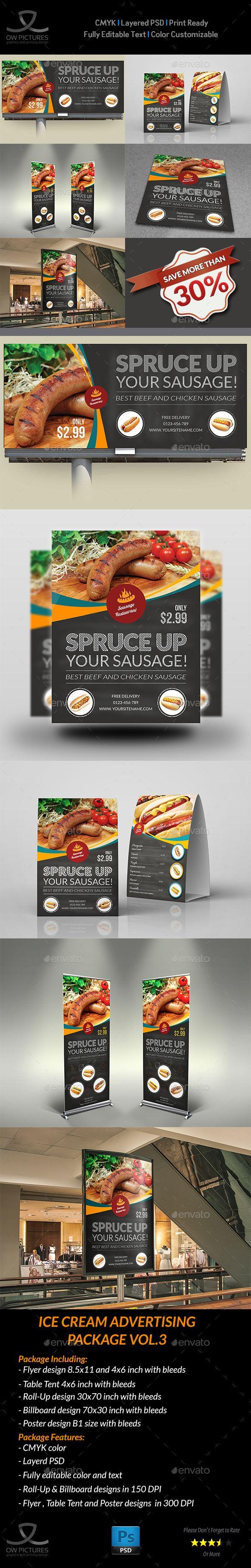 Advertising Bundle Description : Sausage Restaurant Advertising Bundle including...