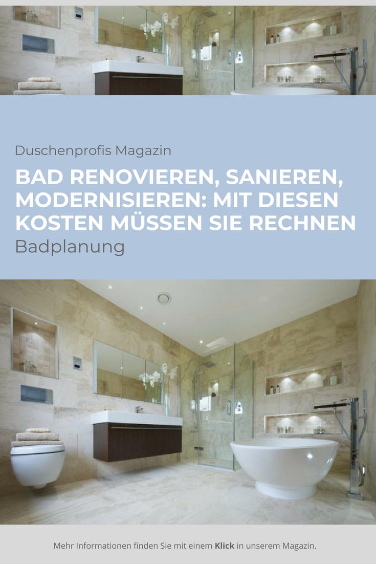 Badsanierung Co Kosten Fur Ihr Neues Bad Im Uberblick Badsanierung Neues Bad Bad Renovieren