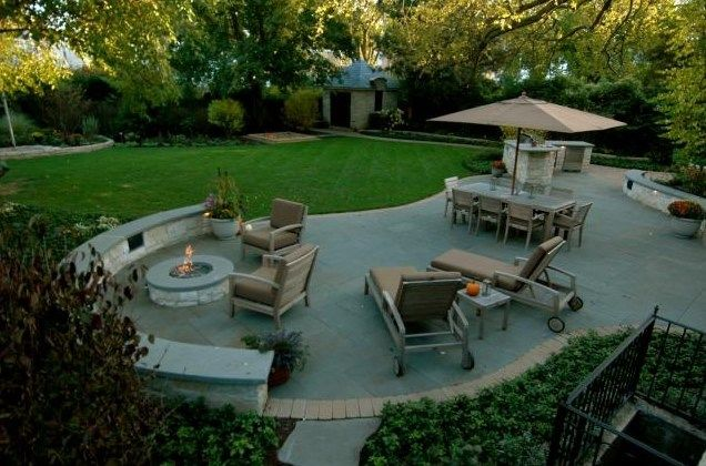 backyard entertaining area backyard landscaping obrien co landscape skokie il - Backyard Entertaining Ideas