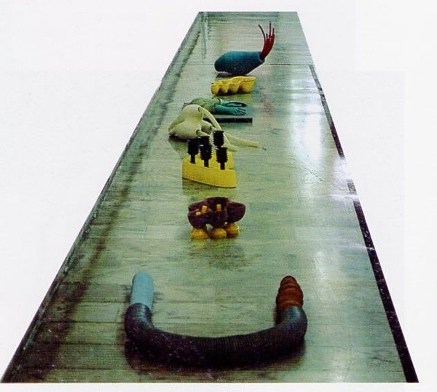 "Brigitte Landherr /Ger/  ""Art Market"" 9 Eylul Universty Ceramic Symposium 1997 (Erdinç Bakla archive)"