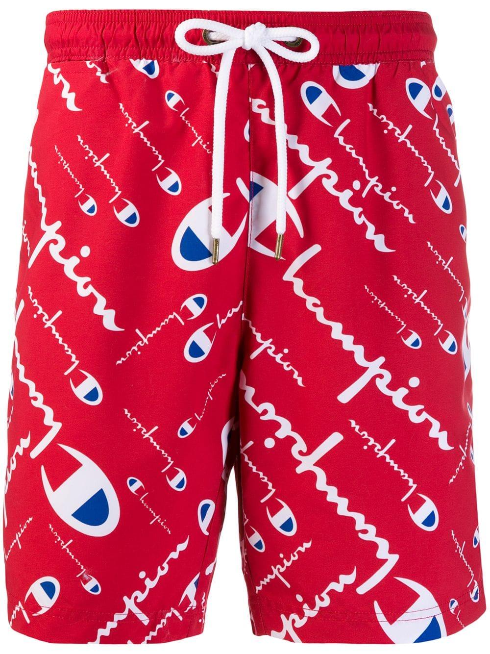 Red Heart Mens Running Casual Short Beach Pants Swim Trunks Drawstring Board Shorts Swimwear