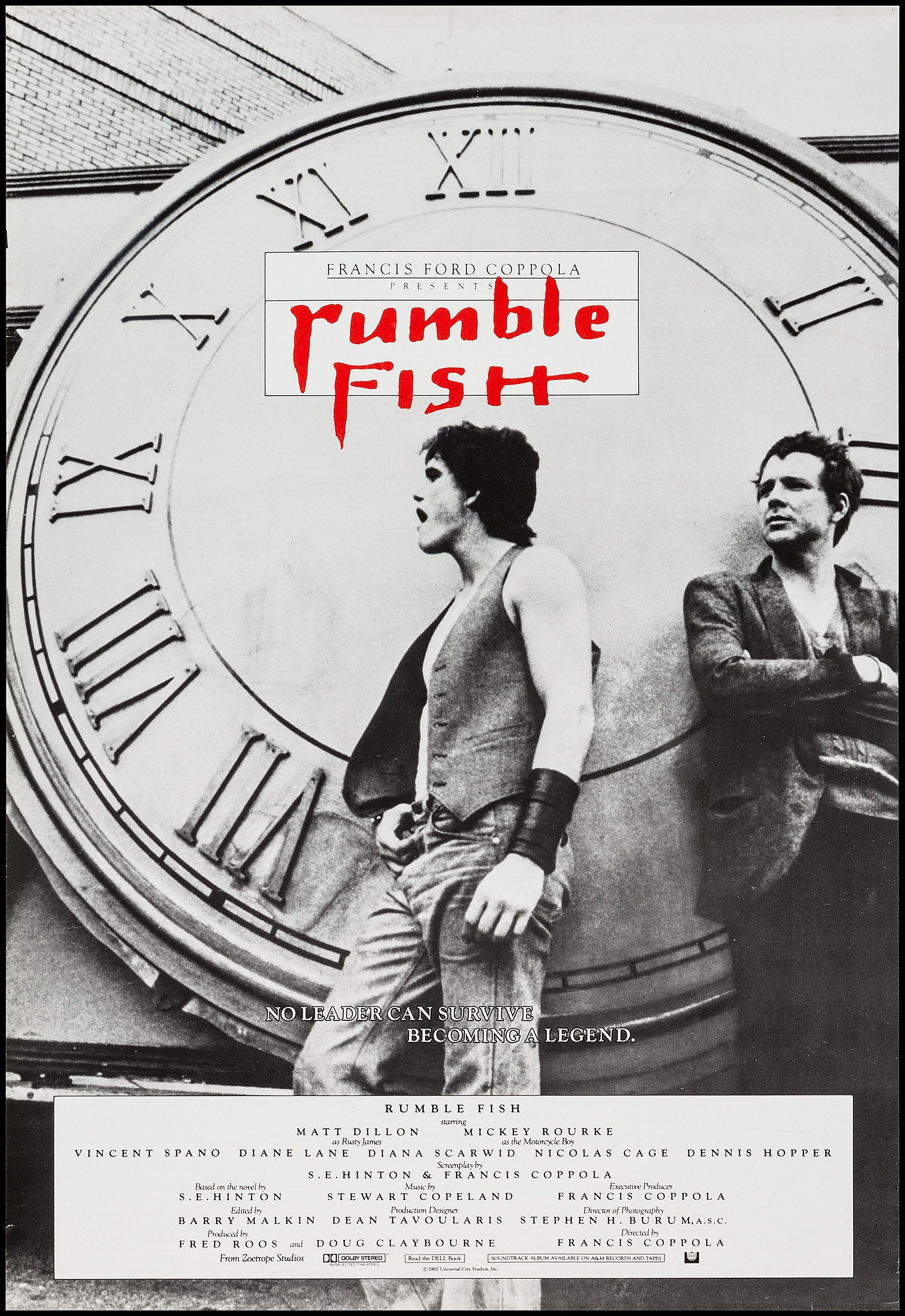 Rumble fish francis ford coppola 1983 us one sheet for Rumble fish book