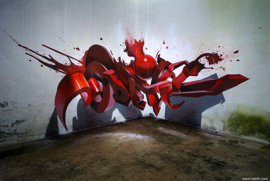 3d Graffiti Art Odeith 11 Art Pinterest Graffiti Malerei Und
