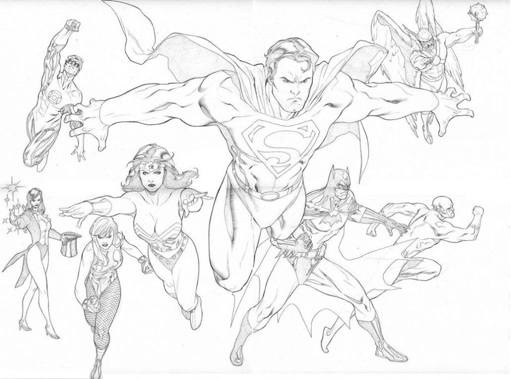 Justice League Coloring Pages | Comic Book Coloring Pages ...