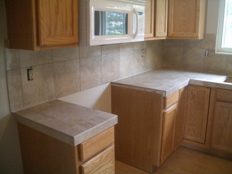 Ceramic Tile Kitchen Countertops And Backsplash Tile Countertops