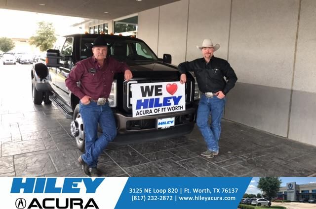 Congratulations Brandon on your Duty F-350 DRW from Thomas Wright at Hiley Acura!