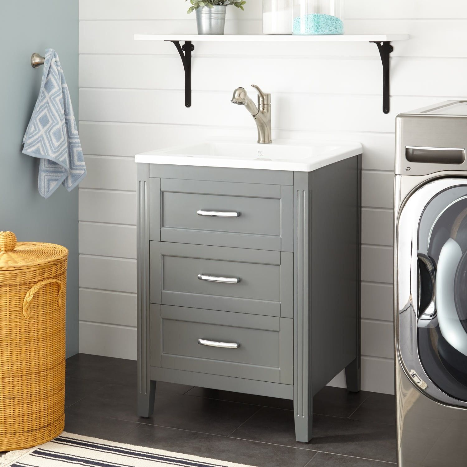 24 Isabeau Laundry Vanity Gray Utility Sinks Home Accents