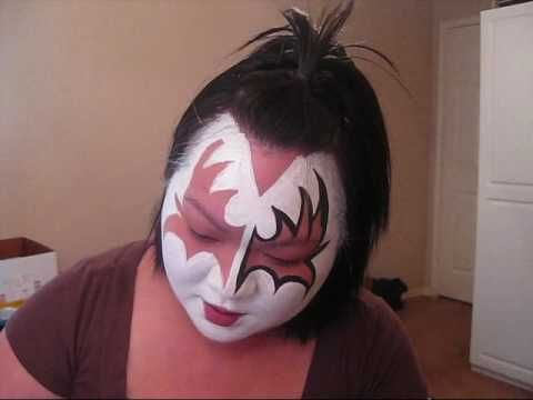 Kiss Gene Simmons Face Painting Youtube Face Halloween Make
