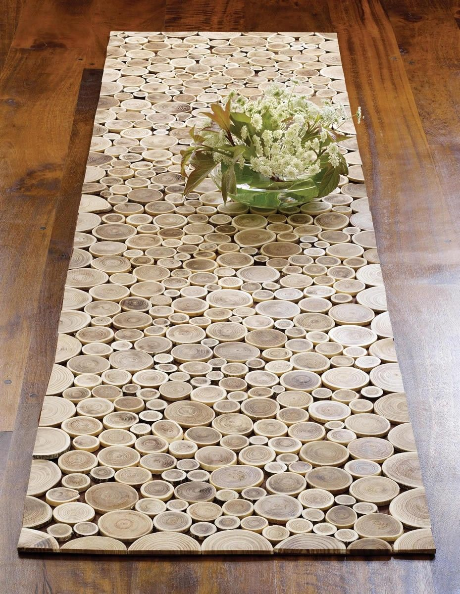 Wood Tree Table Runner | Parquet Tree Branch