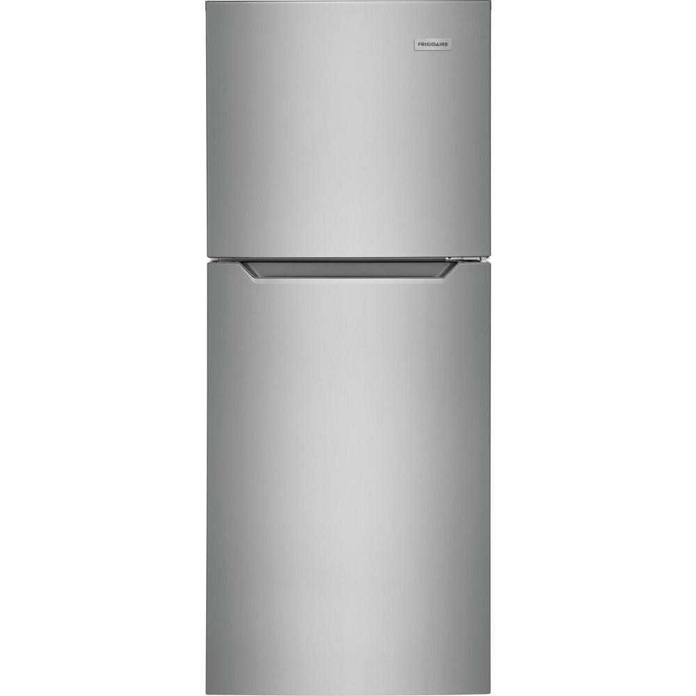 Frigidaire 10 1 Cu Ft Top Freezer Refrigerator In Brushed Steel Energy Star Ffet1022uv The Home Depot In 2020 Top Freezer Refrigerator Apartment Size Refrigerator Apartment Refrigerator
