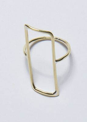 Lorraine West Rectangle Minimalist Brass Ring. Available at http://www.shopdoku.com/designers/lorraine-west/lorraine-west-rectangle-ring/