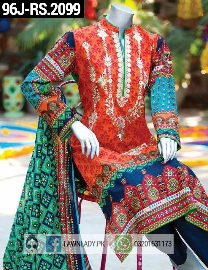 931f4b8021 Buy Junaid Jamshed Lawn 2016 Master Copy Replica. 4Pcs Embroidered Suit  with Chiffon Dupatta. PRICE: Pak Rs. 2,099
