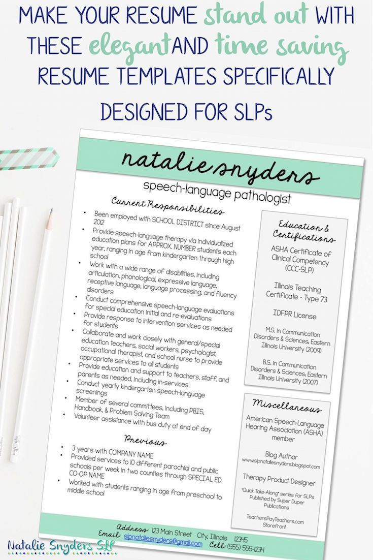 Resumes for slps and new grads speech language letter
