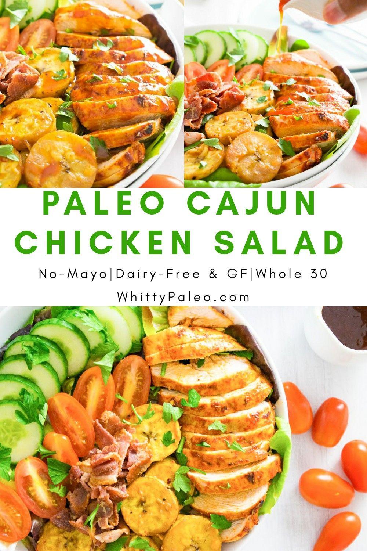 Cajun chicken plantain salad w sweet paprika dressing