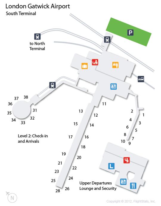 north terminal gatwick map Lgw London Gatwick Airport Terminal Map Gatwick Airport north terminal gatwick map