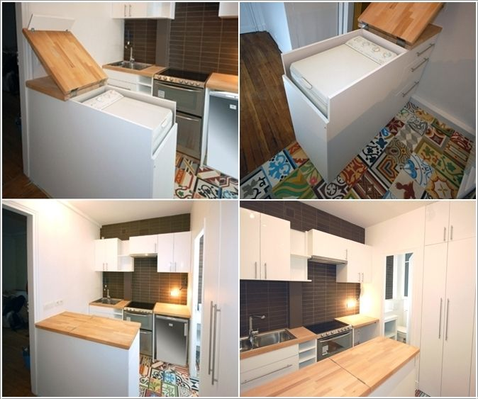 A Hidden Top Load Washing Machine Inside The Kitchen Island Part 96