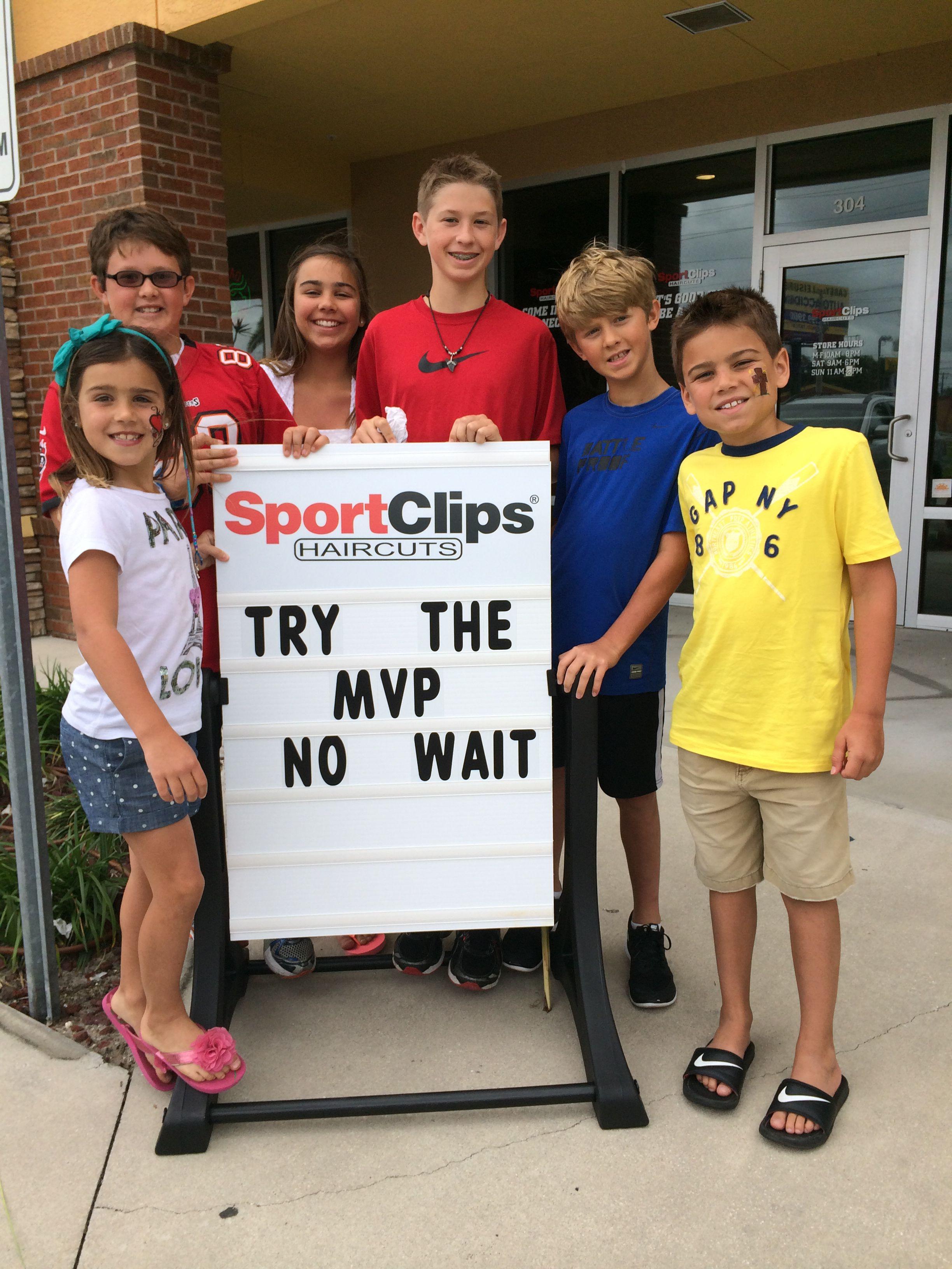 Kids love the MVP at oldsmar Sport Clips Sports clips
