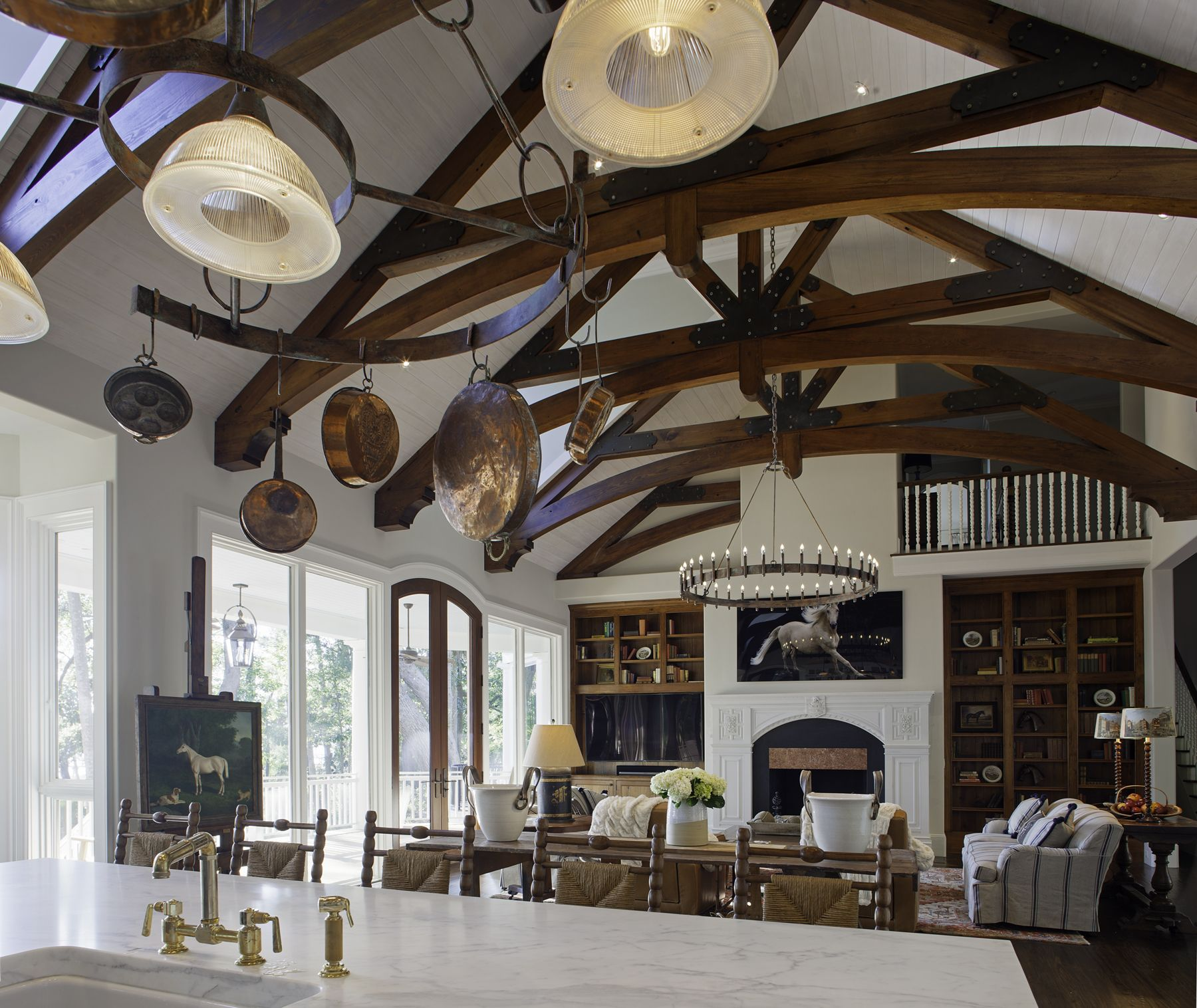 Designer Cyndie Seely created a space where a family of Anglophiles and animal lovers could relax.