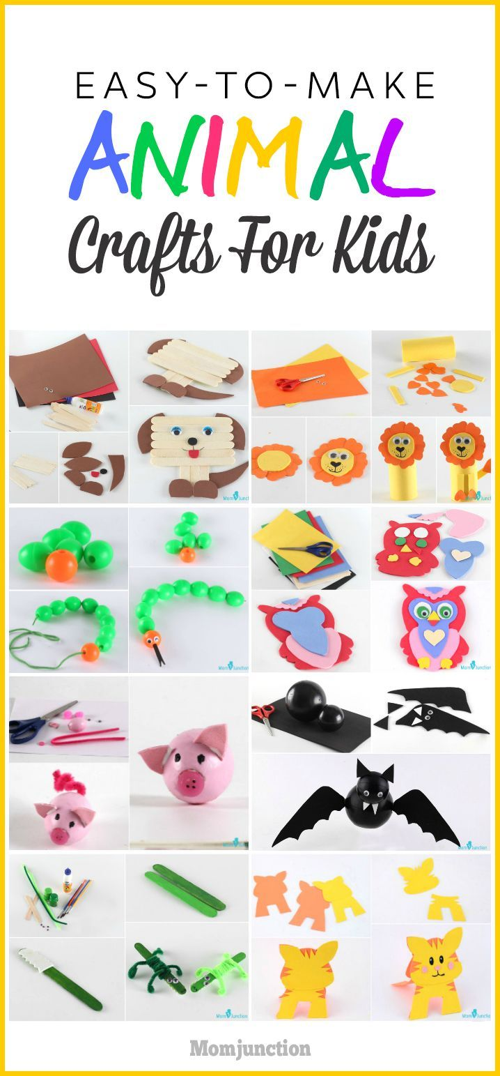 15 Easy To Make Animal Crafts For Kids Baby Sitting