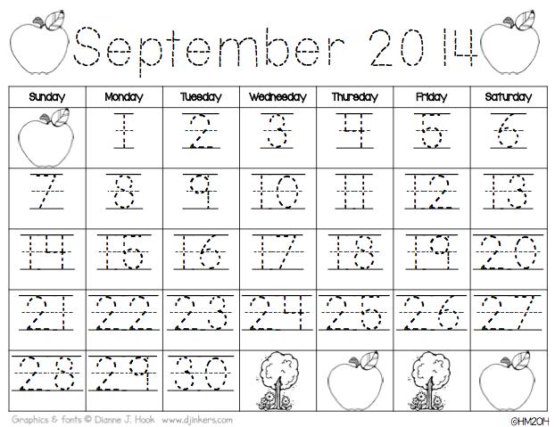 Kindergarten Calendar Journal : Calendar time using interactive notebooks