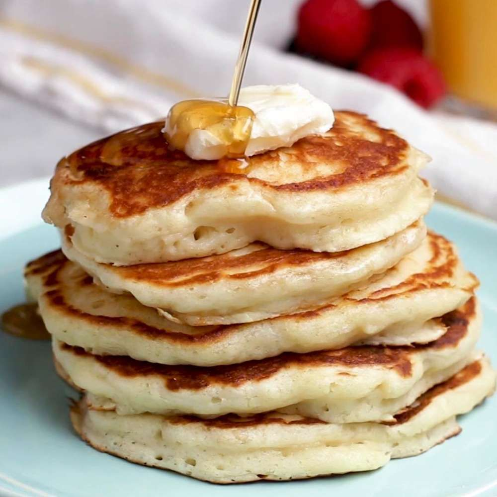 Buttermilk Pancakes Recipe By Tasty Recipe Pancake Recipe Buttermilk Savoury Cake Food