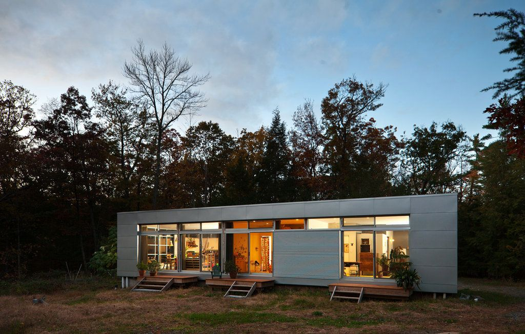 In The Catskills Assembled From A Kit Published 2012 Prefab Home Kits Prefab Homes Architecture