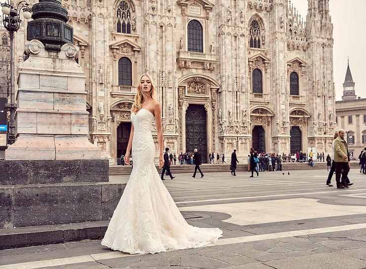Eddy K Milano Style MD196 - Mermaid wedding dress | itakeyou.co.uk #weddingdress #wedding #weddingdresses #weddinggown #bridalgown #bridaldress #weddinggowns #engaged