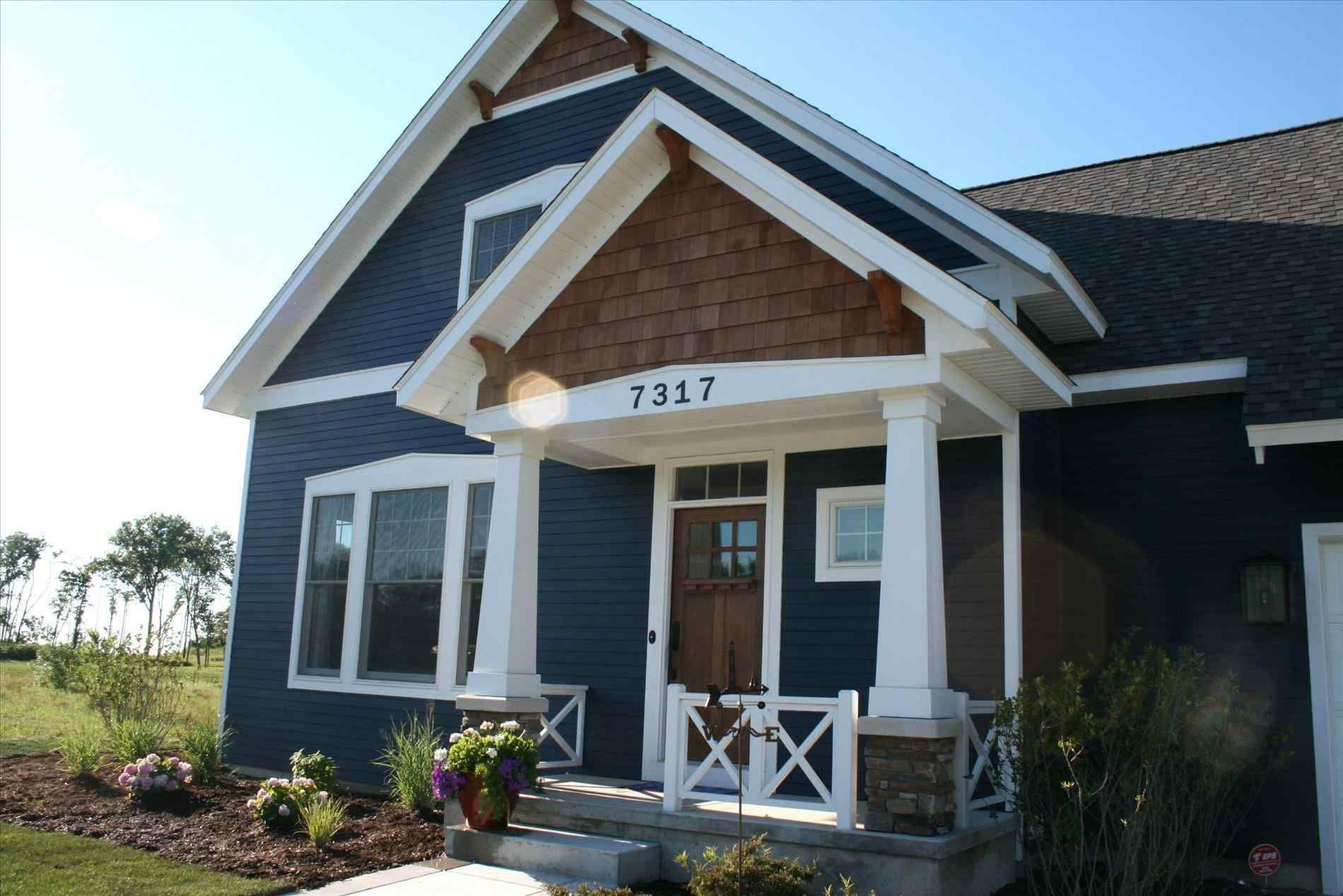 Blue exterior paint color schemes immaculately kept house ...