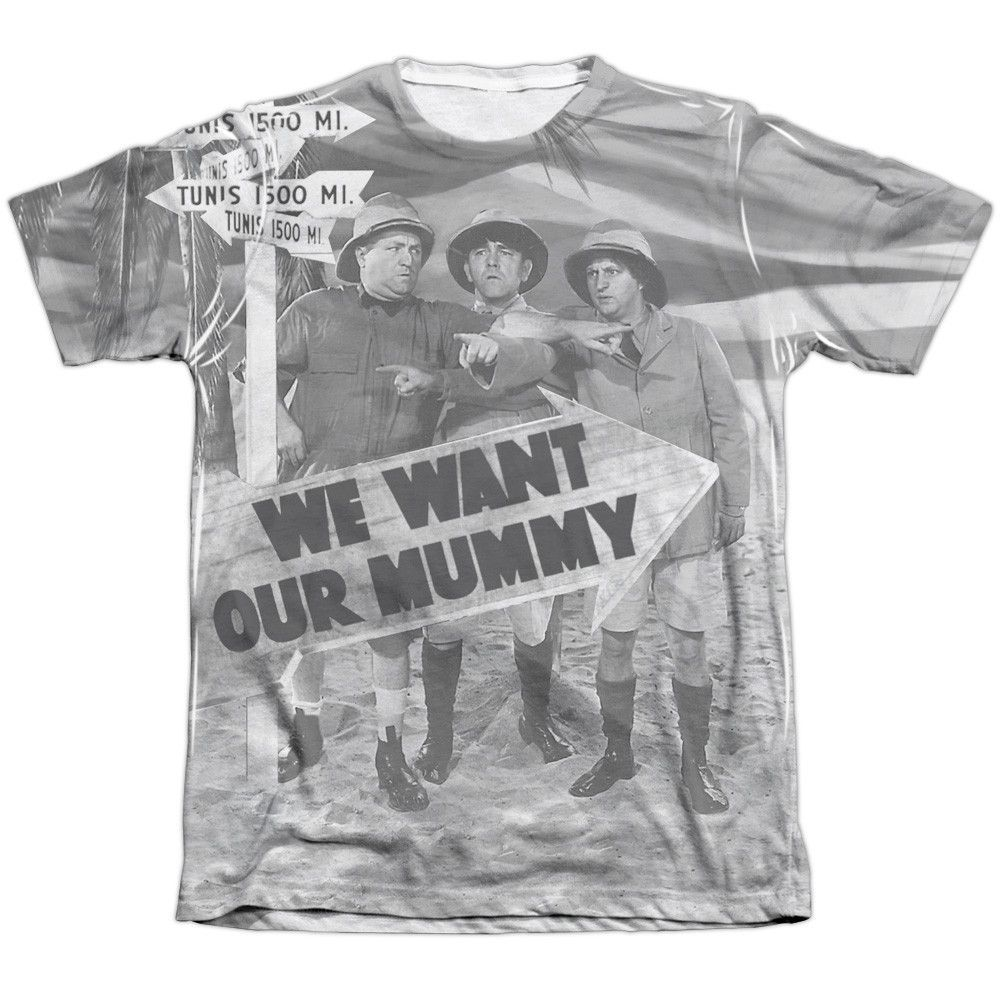THREE STOOGES/TUNIS 1500 - ADULT 65/35 POLY/COTTON S/S TEE - WHITE -