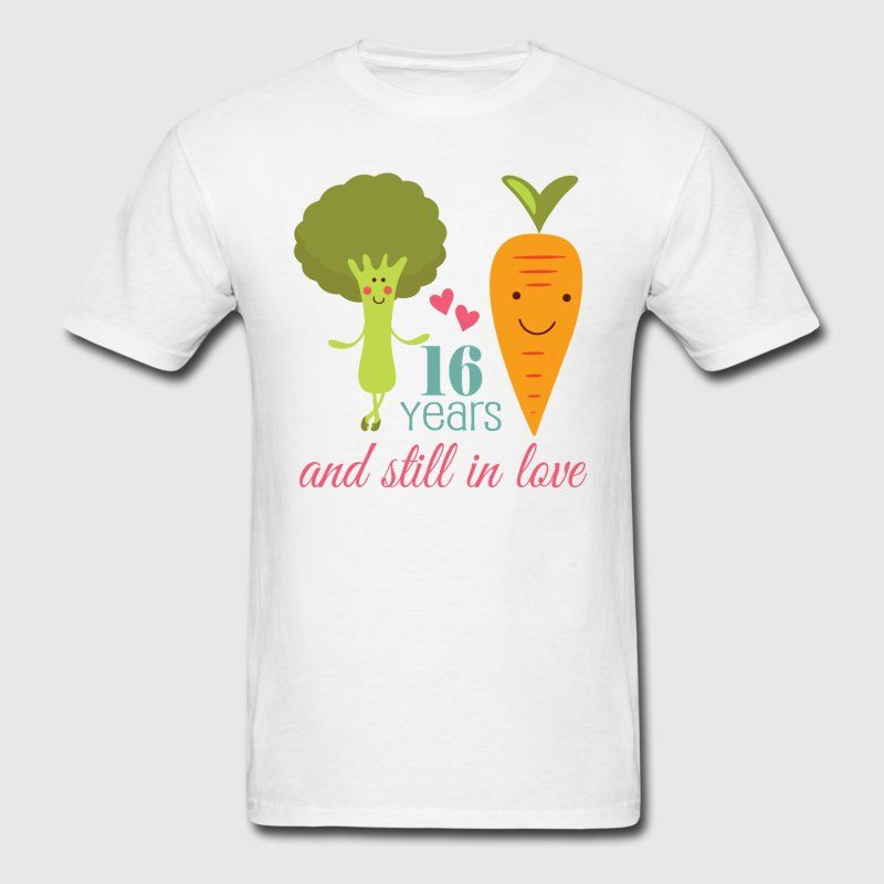 Funny Vegetable Couple 16th Wedding Anniversary Design