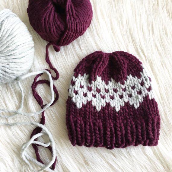 Jasper Beanie Knit Pattern // Fair Isle // Easy by TheHookNook12 ...