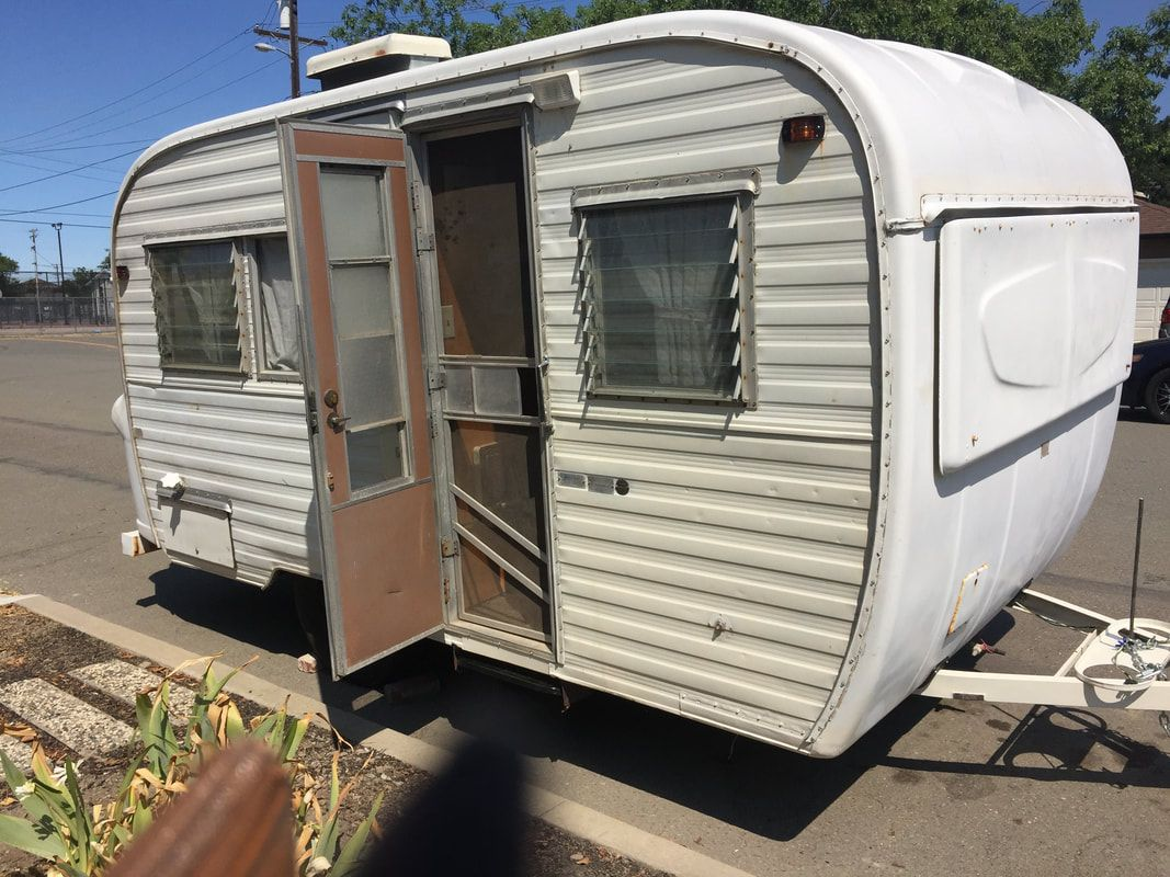 Vintage Camper Trailers For Sale 1968 Ken Craft 17 With Bathroom