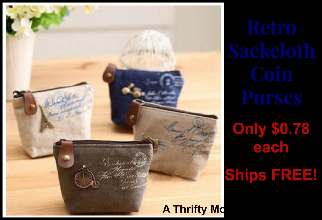 Retro Coin purse only $.79 each, such a fun gift idea