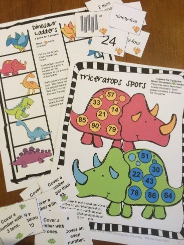 FREEBIE - Place Value games for 2 digit numbers by Games 4 Learning - a fun way to review place value