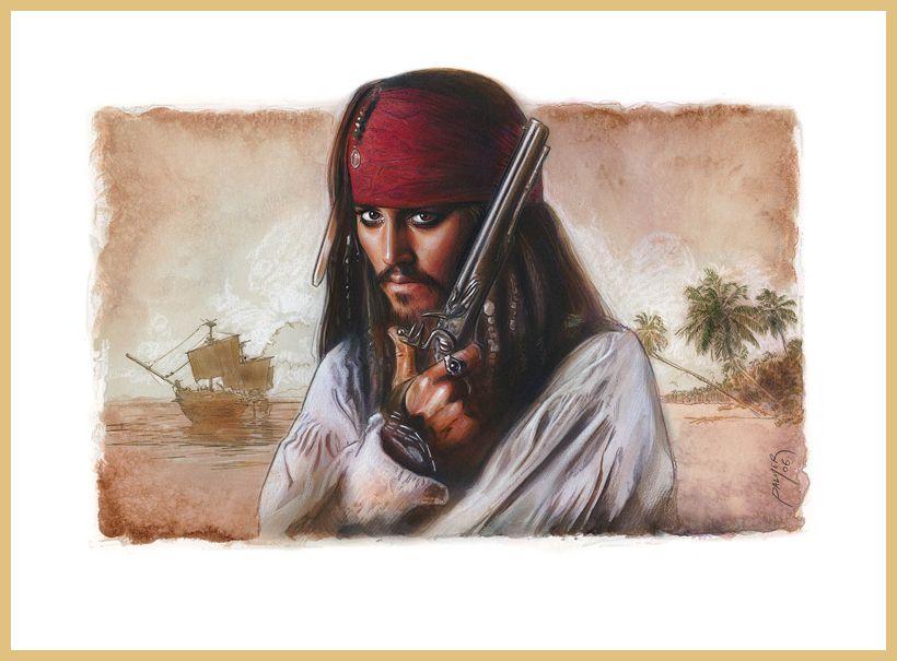 :iconjasonpal:  Captain Jack Sparrow by jasonpal*  Fan Art / Digital Art / Painting & Airbrushing / Movies & TV©2006-2015 jasonpal      Combination of Traditional and Digital Painting