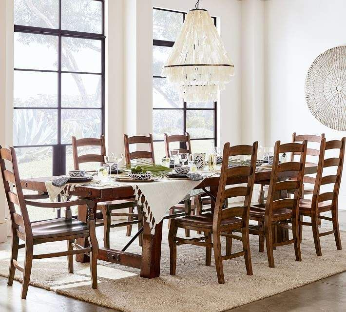 Ordinaire Pottery Barn Benchwright Extending Table U0026 Wynn Chair Dining Set