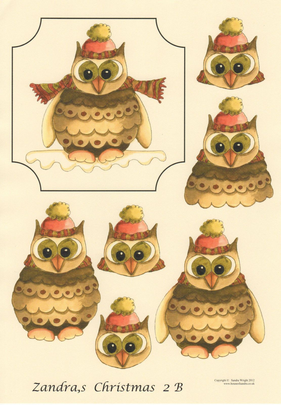 3d Owl Stickers I Love Owls Scrapbooking Large Sheet