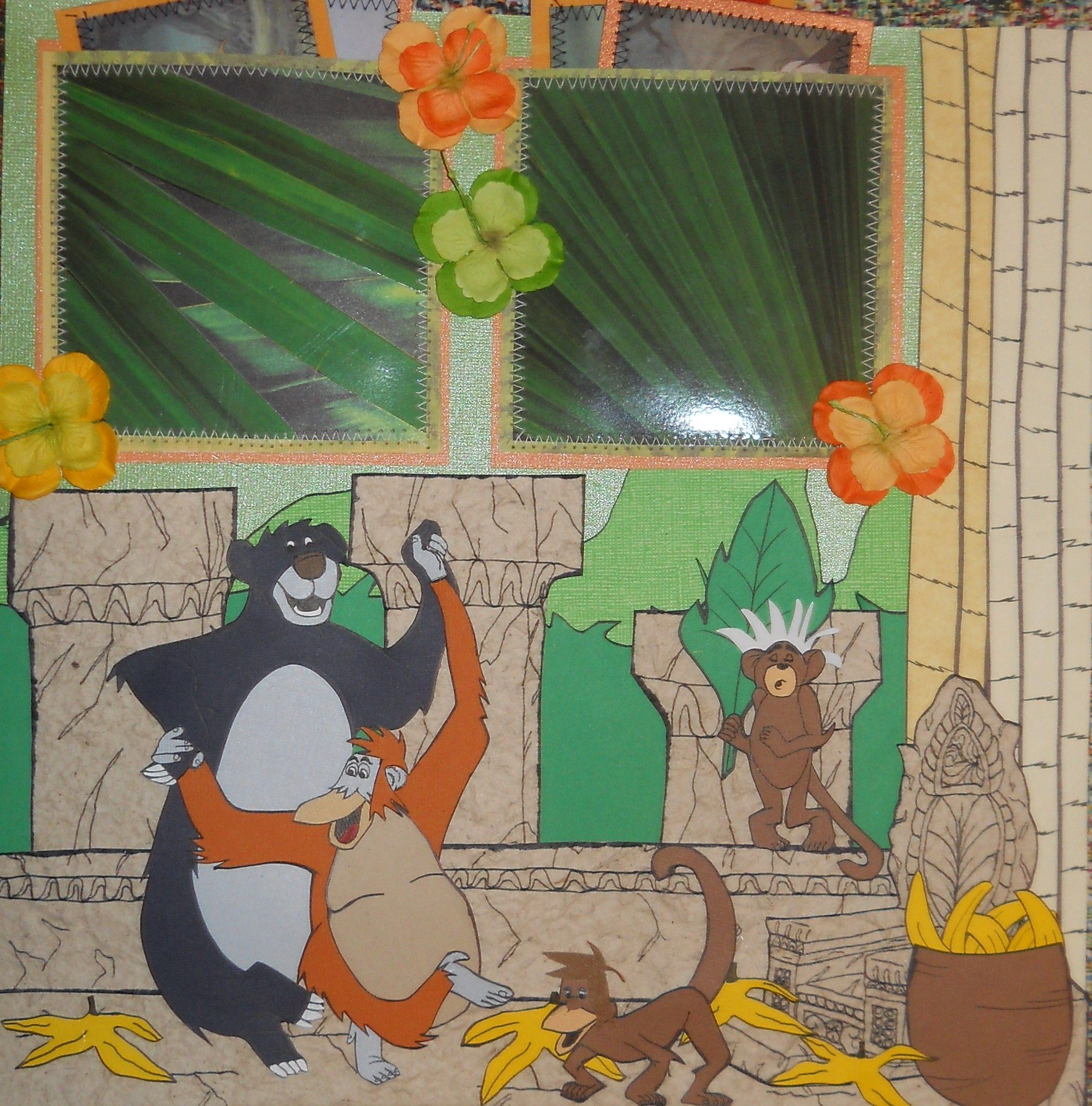 Jungle scrapbook ideas - This Is The Second Page Of The Jungle Book Layout That I Created So Cute
